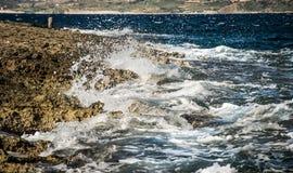 Побережье и скалы Мальты Стоковые Фотографии RF
