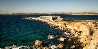 Побережье и скалы Мальты Стоковые Изображения RF