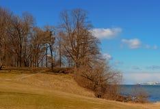 Побережье конематки al Rocca во времени весны Таллина Стоковое Изображение