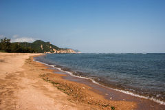 Побережье моря южного Китая Стоковое Изображение