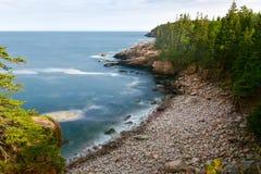 Побережье национального парка Acadia Стоковая Фотография