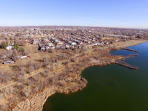 Побережье озера около Денвера Колорадо Стоковое Изображение RF