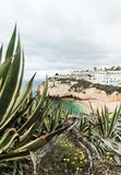 Побережье океана Португалии Portimao стоковое изображение