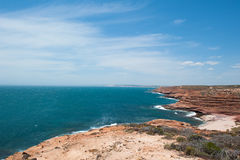 Побережье океана Kalbarri вида с воздуха Стоковая Фотография RF