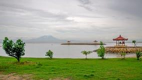 Побережье острова Бали Индонезия Стоковое Изображение