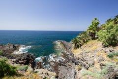 Побережье острова Испании Тенерифе стоковое изображение
