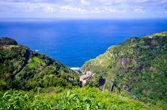 Побережье острова Мадейры около Sao Джордж, Португалии Стоковые Изображения RF