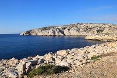 Побережье острова Du frioul Стоковое Фото