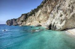 Побережье острова Ithaca, Греция стоковое фото