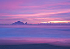 Побережье пейзажа восхода солнца красивое Тайваня стоковое изображение