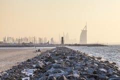 Побережье Персидского залива в Дубай Стоковые Фото