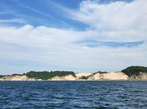 Побережье песчанной дюны Lake Michigan стоковое фото rf