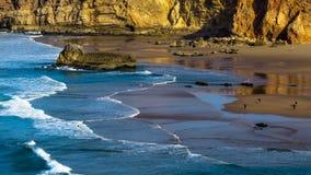 Побережье Португалии Алгарве и пляж Sagres Стоковые Фотографии RF