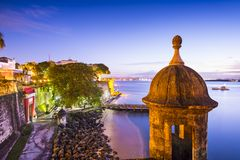 Побережье Сан-Хуана, Пуэрто-Рико Стоковые Фотографии RF
