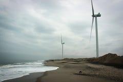Побережье Северного моря в Blavand, Дании Стоковое Фото