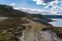 Побережье Северного моря в Kettleness, Англии, Великобритании стоковая фотография rf
