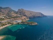 Побережье Средиземного моря стоковые изображения