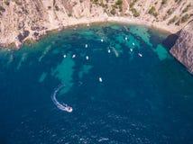 Побережье Средиземного моря стоковое изображение
