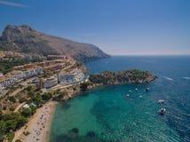 Побережье Средиземного моря стоковая фотография