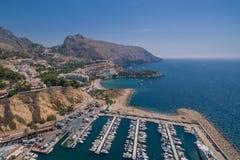 Побережье Средиземного моря стоковые изображения rf