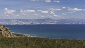 Побережье среднеземноморского стоковая фотография