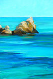Побережье Средиземного моря, крася стоковое изображение rf