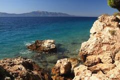 Побережье Хорватии стоковая фотография rf