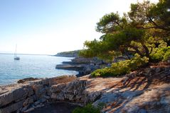 Побережье Alonissos, греческий остров Стоковая Фотография RF