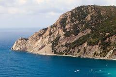 Побережье Cinque Terre в Лигурии, Италии Стоковые Изображения