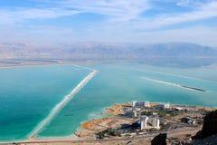 Побережье Ein Bokek мертвого моря, Израиля Стоковое Фото