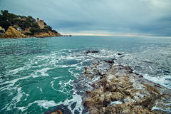 Побережье Lloret de mar Стоковое Изображение