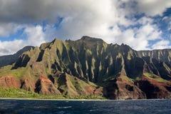 Побережье Na Pali, Кауаи, Гаваи Стоковое Изображение