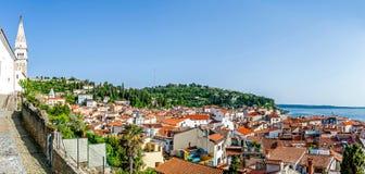 Побережье Piran, Словения Стоковые Изображения