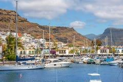 Побережье Puerto de Mogan Gran Canaria, Канарские острова, Испания Стоковые Фото