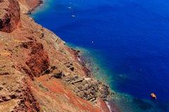 Побережье Santorini Стоковые Фотографии RF