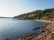 Побережье St Tropez, Франции стоковая фотография rf