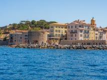 Побережье St Tropez, Франции стоковые изображения rf