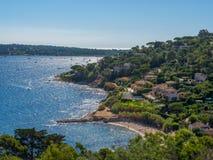 Побережье St Tropez стоковые изображения