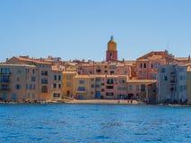 Побережье St Tropez стоковые фотографии rf