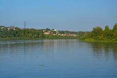 2 побережья реки Oka в городе Kasimov, России Стоковое Фото