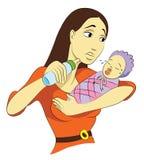 Побеспокоенная мама Стоковые Фото