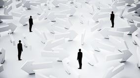 Побеспокоенные предприниматели узнавая путь Мультимедиа иллюстрация штока