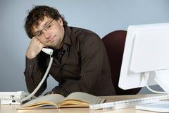 побеспокоенный бизнесмен стоковое изображение