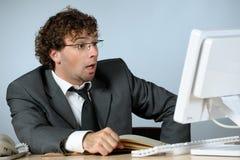 побеспокоенный бизнесмен стоковая фотография rf