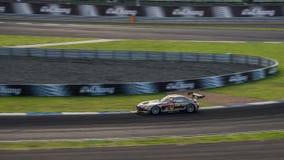 ПОБЕДИТЕЛЬ DIXCEL SLS ПОБЕДИТЕЛЯ в гонках GT300 на Burirum, Таиланде Стоковые Фото