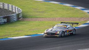 ПОБЕДИТЕЛЬ DIXCEL SLS ПОБЕДИТЕЛЯ в гонках GT300 на Burirum, Таиланде Стоковое Фото