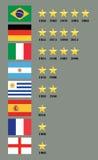 Победители кубка мира настоящие стоящие иллюстрация штока
