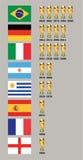 Победители кубка мира стоковая фотография