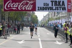 Победитель гонки бега потехи Стоковое Изображение