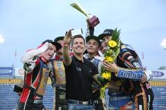 Победитель гонки - команда Дании Стоковое фото RF